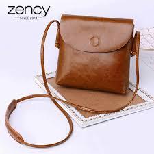 Zency Fashion Women Crossbody <b>Purse 100</b>% <b>Genuine Leather</b> ...