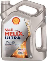 <b>Моторное масло Shell</b> Helix Ultra, синтетическое, 5W-40, 4 л ...