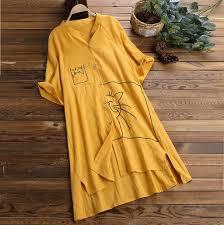 <b>Women Summer</b> White <b>Dress Stand</b> Giraffe Print Mid Calf Button ...