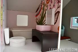 dollhouse bathroom with handmade furniture build dollhouse furniture