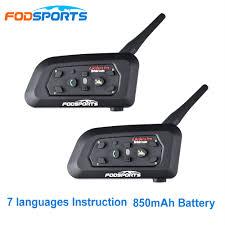 Fodsports V6 Pro <b>Motorcycle Helmet</b> Bluetooth Headset Intercom 6 ...