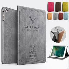 iPad Silicone Soft Case New Tablet Stand <b>PU Leather Magnet</b> ...