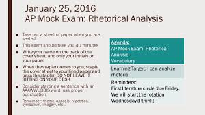 25 2016 ap mock exam rhetorical analysis ■take out a 25 2016 ap mock exam rhetorical analysis ■take out a sheet of