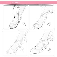 Buy <b>Fashion 60CM</b> Long Women Shoes Bright Leather Band Soft ...