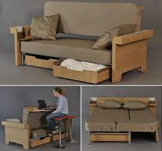 With an objective to meet current needs of urban dwellings where space comes for a premium, a French design student Fanny Adam has designed a transforming ... - Transforming-sofa-bed-and-table-by-Fanny-Adam