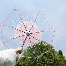 <b>New</b> Fashion Transparent Clear <b>Umbrella</b> Sakura <b>Umbrella</b> rain ...