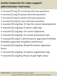 Top   sales support administrator resume samples         Useful materials for sales support administrator