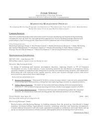 sample marketing resume experience resumes sample marketing resume