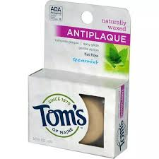 Toms Of Maine Dental Floss <b>Naturally Waxed Antiplaque Flat</b>