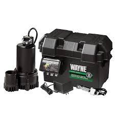 bathroom sewage pump high water wayne esp  volt battery back up sump pump system with audible alarm