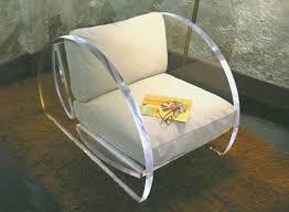 almost round chair acrilic furniture