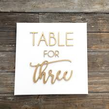 wood sign glass decor wooden kitchen wall: table for three laser cut quote on white canvas quotxquot inches calligraphy statement dining room kitchen decor family room wall art sign