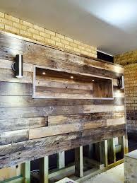 reclaimed pallet headboard bedroom headboard lighting