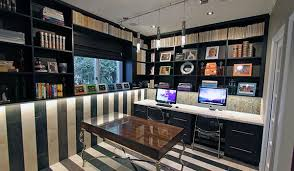storage home office. home office designs with 2 work stations and custom wall unit storage e