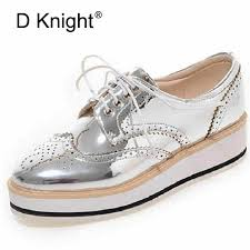 Vintage Women's Casual Oxfords Shoes <b>Plus Size 34 43</b> Carved ...