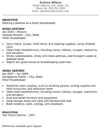 hotel the template site sample resume for housekeeping supervisor
