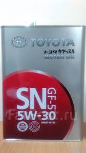 <b>Масло моторное Toyota Motor OIL</b> SN/GF-5 5w30 оригинал Япония