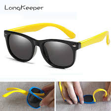 LongKeeper <b>Kids Polarized Sunglasses Children</b> Flexible Mirror ...