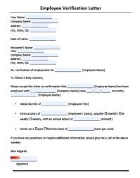employment verification letter template microsoft best business gallery of proof of employment template