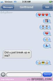 Breaking up over emojis is the new breaking up over text message ... via Relatably.com