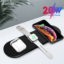 <b>Leehur 3 in</b> 1 Qi Wireless Charger For Iphone 7 8 Plus Xs Samsung ...