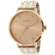 Nixon Women's <b>Arrow</b> Rose-Gold <b>Stainless</b>-<b>Steel</b> Quartz <b>Fashion</b> ...