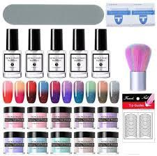 <b>NICOLE DIARY Dip Nail</b> Powder Starter Kit Thermal Color Changing ...
