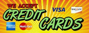 Image result for we accept credit cards