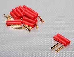 HXT 4mm Gold Connector w/ Protector (<b>10pcs</b>/<b>set</b>)