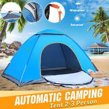 2-3/3-4/<b>1-2 Person Portable</b> Automatic <b>Popup</b> Tent Instant Setup ...