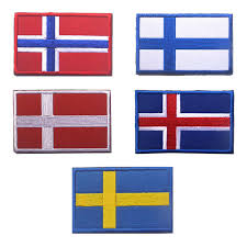 The Flag Of <b>Finland</b> Denmark Norway <b>Sweden Iceland</b> Morale Patch ...