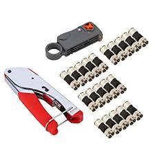 COAX STRIPPER, <b>RG59</b>, RG6, <b>compression</b> tool kit, <b>20 PCS</b> ...