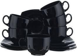 """<b>Набор чайный Luminarc</b> """"<b>Quadrato</b>"""", цвет: черный, 12 предметов ..."""