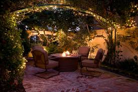 outdoor string lights patio traditional with courtyard firepit patio patio backyard string lighting