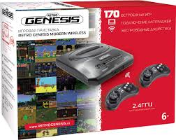 <b>Игровая</b> консоль <b>Sega Retro</b> Genesis Modern Wireless + 170 игр ...