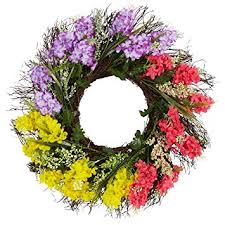 22 inch Spring Artificial Wreath Hyacinth and Berry ... - Amazon.com