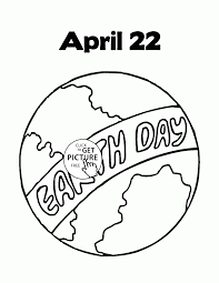 Small Picture Earth Day April coloring page for kids coloring pages printables