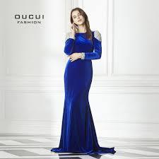 Royal Blue <b>Handmade</b> Beading Long Prom Dresses <b>2019</b> Full ...