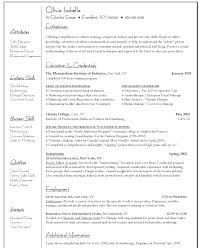resume templates fashion designer job description fashion fashion resume objective sample
