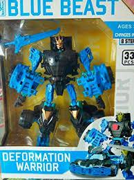 Kids_Bazar Transformers <b>Deformation</b> Warrior - Blue <b>Beast</b>: Amazon ...