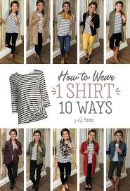 How to <b>wear 1 striped</b> shirt 10 different ways! A good <b>basic striped</b> ...