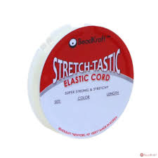 BEADKRAFT <b>0.8MM Stretch</b>-tastic <b>Elastic</b> Cord, <b>Clear</b> (25 Meters ...