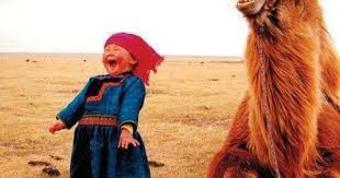 Image result for happy mongolian girl with camel