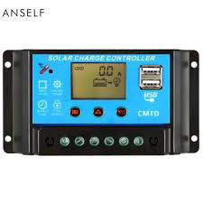 Anself 10A <b>12V</b>/<b>24V LCD</b> Solar Charge Controller with Current ...