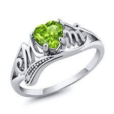 Gem Stone King 925 Sterling Silver Green Peridot ... - Amazon.com
