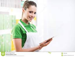 s clerk assisting w in pharmacy stock photo image  s clerk tablet royalty stock photos