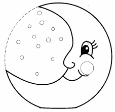 Small Picture Moon Coloring Pages Full Moon and Half Moon Gianfredanet
