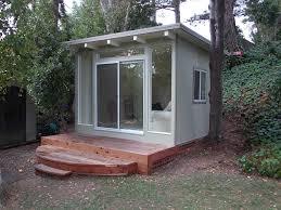 retro modern mini house backyard office shed home