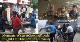 Image result for human chain in chennai floods