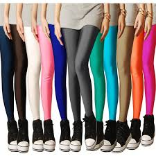 <b>2019</b> New <b>Spring</b> Solid Candy Neon Leggings for <b>Women</b> High ...